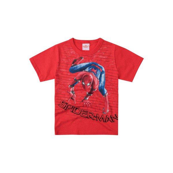 4cd2536fd0a92 Camiseta Manga Curta Infantil Menino Homem-Aranha Vermelho - Brandili.  32969 vermelho