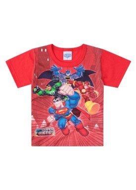 2c0270f4dade9 Camiseta Manga Curta Infantil Menino Batman Vermelho - Brandili ...