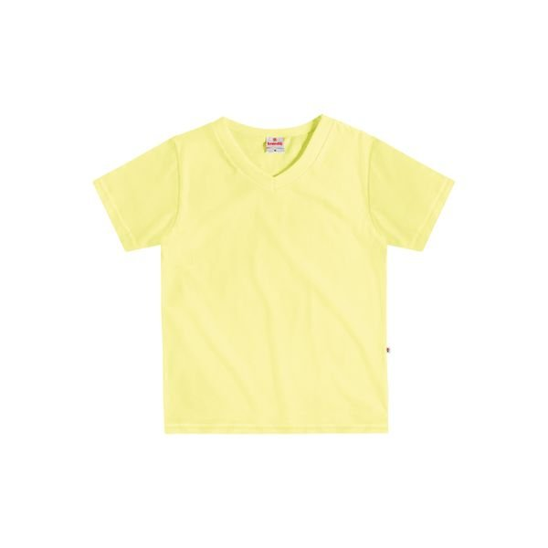 c8703337ed760 Camiseta Manga Curta Básica Infantil Menino Amarelo - Brandili ...