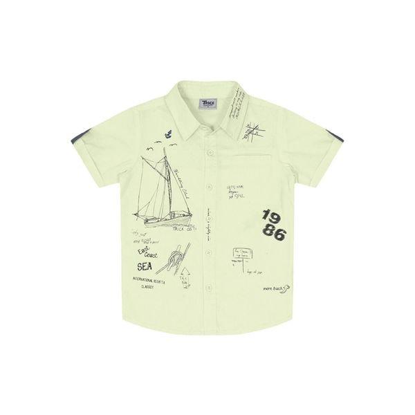 4572be1947 Camisa Infantil Verde - Trick Nick | Divertida Moda