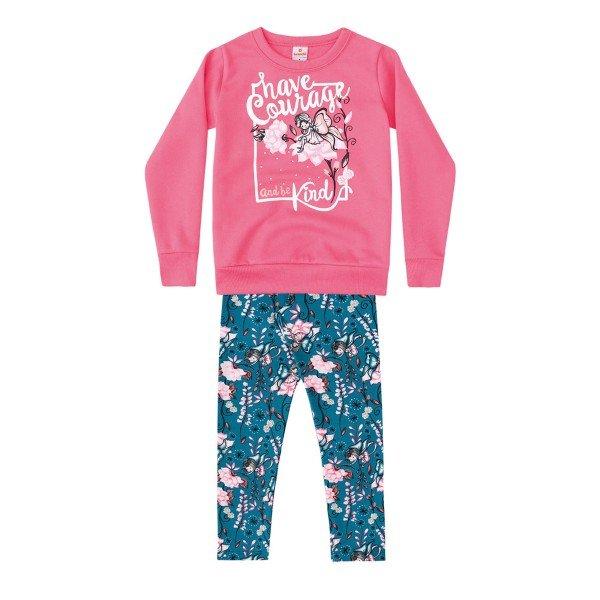 f6c7d0211 Conjunto Moletom e Legging Infantil Menina Rosa - Brandili. 52933 rosa
