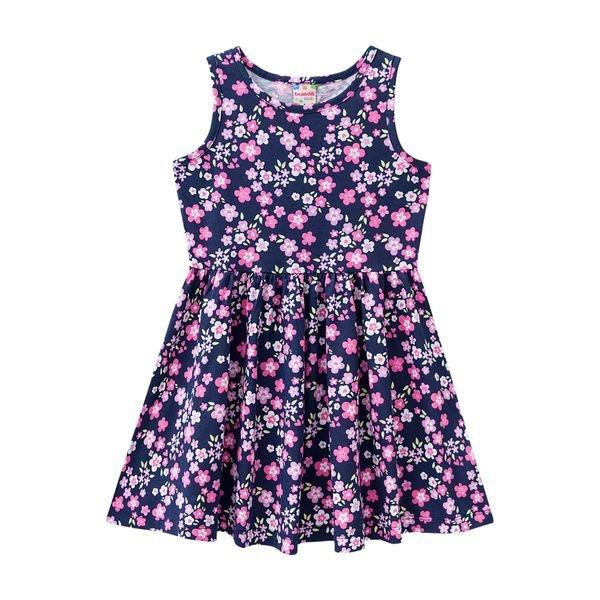 7177553e90 Vestido Infantil Menina Marinho - Brandili. MODELO  BR41222-MARI