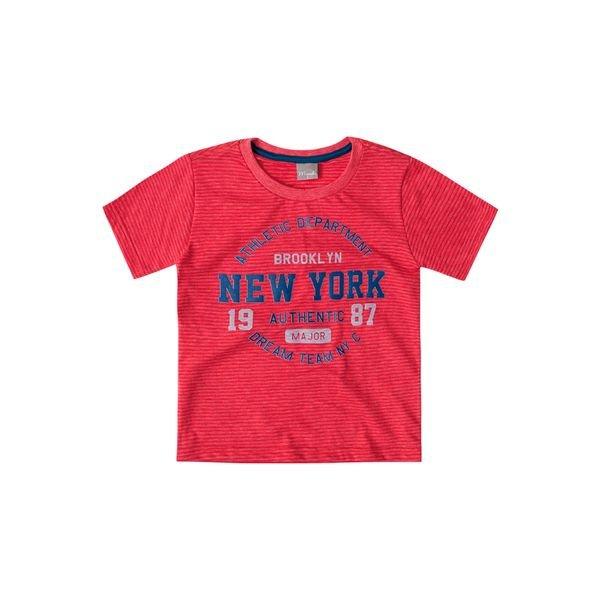 721b3e226 Camiseta Manga Curta Infantil Menino Vermelho - Brandili Mundi ...