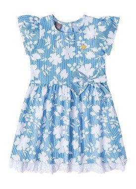 vestido infantil menina tricoline azul brandili mundi 23689 1