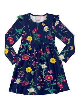 vestido manga longa infantil menina marinho alakazoo 60929