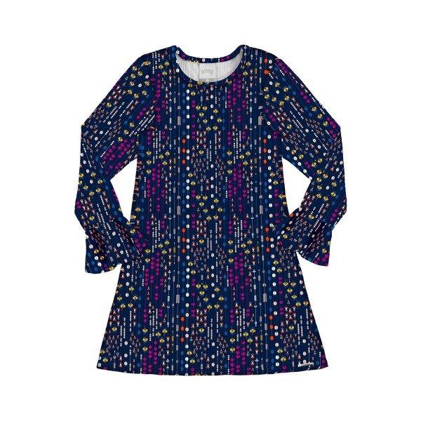 vestido manga longa infantil menina marinho alakazoo 60955