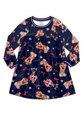 vestido manga longa infantil menina marinho alakazoo 60964 2