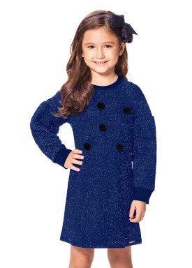 vestido manga longa infantil menina marinho alakazoo 60965 1