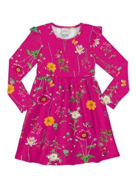 vestido manga longa infantil menina pink alakazoo 60929