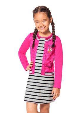 vestido manga longa infantil menina rosa alakazoo 69325 1