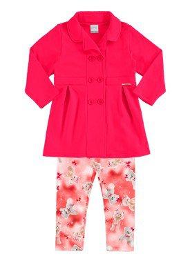 conjunto moletom infantil menina pink alakazoo 60880