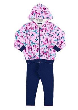 conjunto moletom infantil menina rosa alakazoo 60887