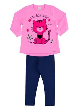 conjunto moletom infantil menina rosa alakazoo 60888