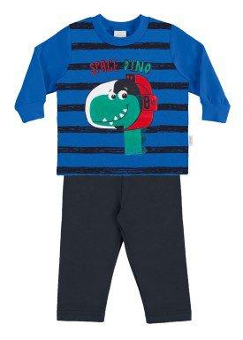 conjunto moletom bebe menino azul alakazoo 60756