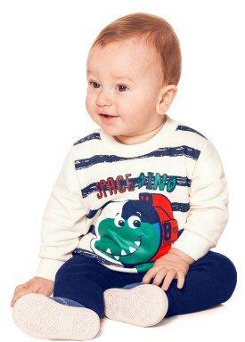 conjunto moletom bebe menino offwhite alakazoo 60756 1