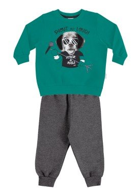 conjunto moletom bebe menino verde alakazoo 60751 1