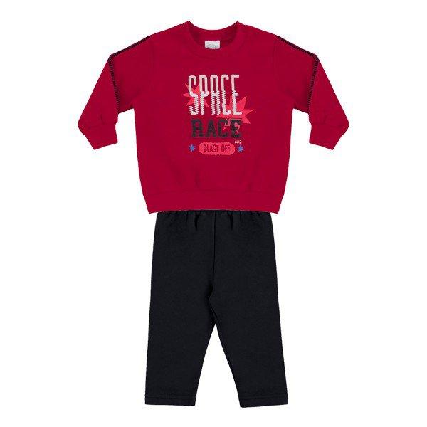 conjunto moletom bebe menino vermelho alakazoo 60757