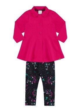conjunto moletom infantil menina pink alakazoo 60890