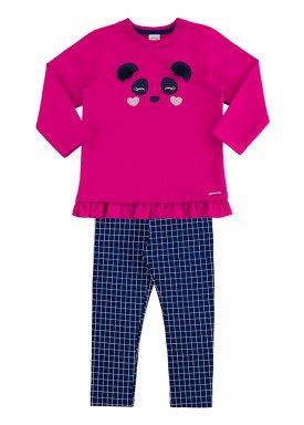 conjunto moletom infantil menina pink alakazoo 60901