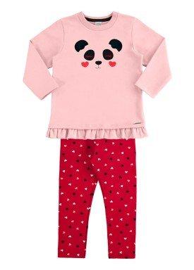 conjunto moletom infantil menina rosa alakazoo 60901