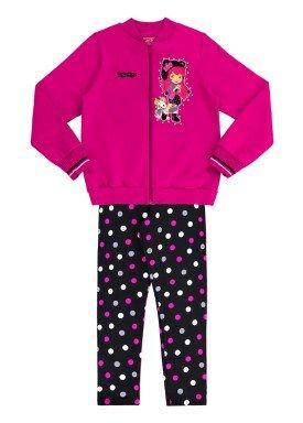 conjunto moletom infantil menina rosa alakazoo 69324 2