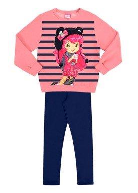 conjunto moletom infantil menina rosa alakazoo 69327