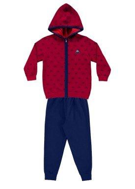 conjunto moletom infantil menino vermelho alakazoo 60790 2