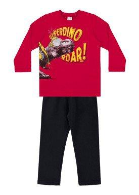 conjunto moletom infantil menino vermelho alakazoo 60791