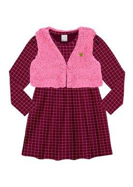 conjunto vestido infantil menina bordo alakazoo 60938
