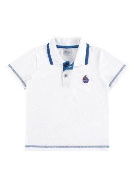 camisa polo infantil menino branco alenice 44194