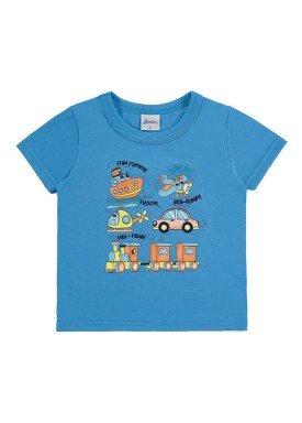 camiseta bebe menino azul alenice 40876