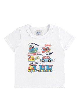 camiseta bebe menino branco alenice 40876 2