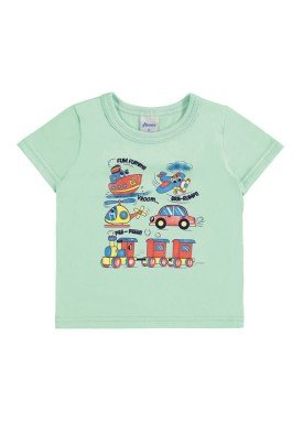 camiseta bebe menino verde alenice 40876