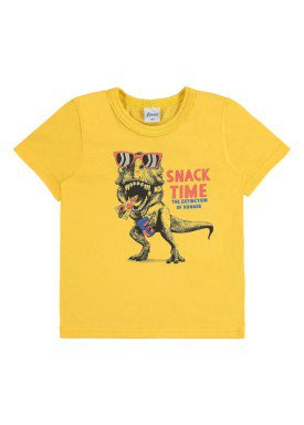 camiseta infantil menino amarelo alenice 44181