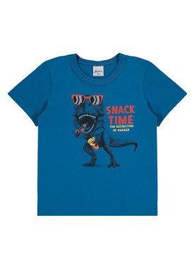 camiseta infantil menino azul alenice 44181