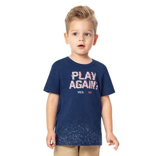 camiseta infantil menino marinho alenice 44191 3