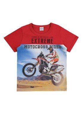 camiseta infantil menino vermelho alenice 46878