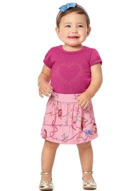 conjunto body bebe menina pink alenice 40917 4