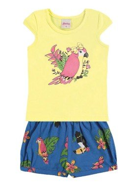conjunto infantil menina amarelo alenice 40906 1