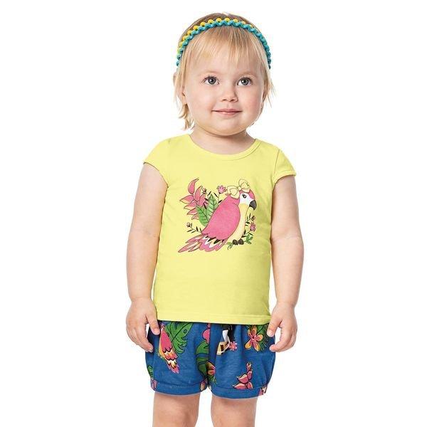 conjunto infantil menina amarelo alenice 40906 4