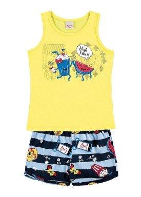 conjunto infantil menina amarelo alenice 44214 1