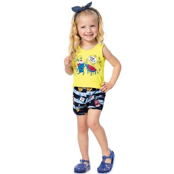 conjunto infantil menina amarelo alenice 44214 4