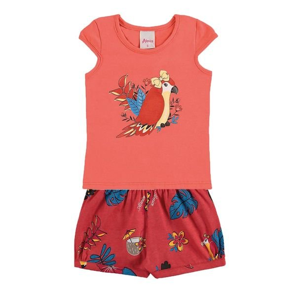 conjunto infantil menina laranja alenice 40906 1