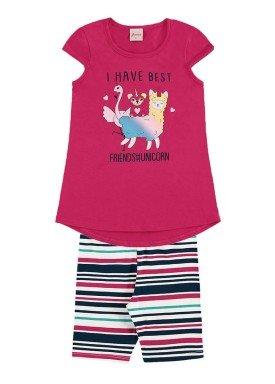 conjunto infantil menina pink alenice 46911 1