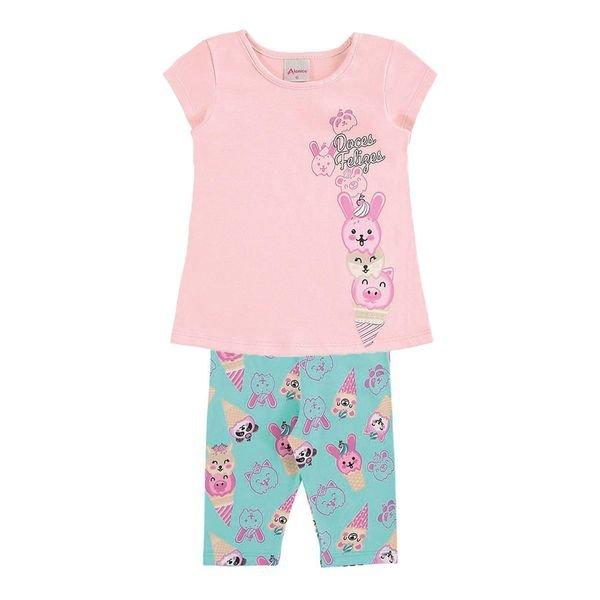 conjunto infantil menina rosa alenice 40907 1