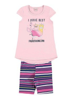 conjunto infantil menina rosa alenice 46911 1