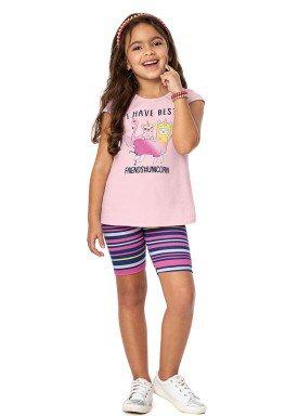 conjunto infantil menina rosa alenice 46911 4