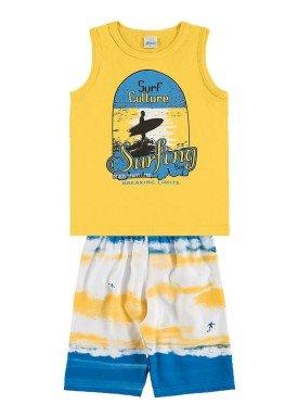 conjunto infantil menino amarelo alenice 46872 1