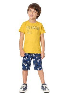 conjunto infantil menino amarelo alenice 46874 4