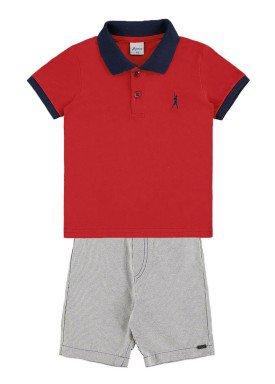 conjunto infantil menino vermelho alenice 44201 1